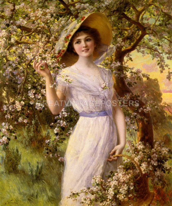 Spring by French Painter Emile Vernon People Repro Choose Canvas or Paper