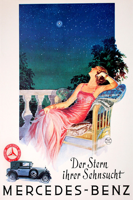 Dreaming lady mercedes benz the star of your desire car for Vintage mercedes benz posters