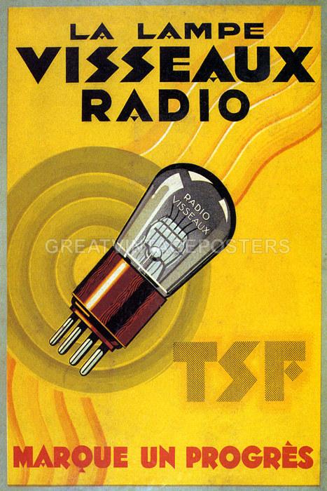 VISSEAUX RADIO LA LAMPE LAMP TSF VALVES TUBE MARKS ...