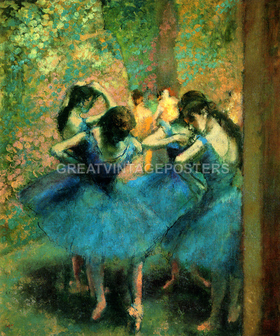 THE DANCE LESSON BALLERINA VIOLIN PLAYER FRENCH PAINTING BY EDGAR DEGAS REPRO