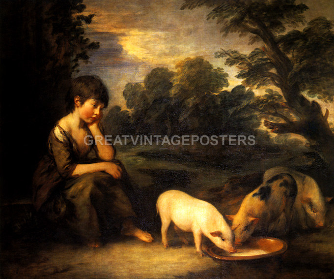 A PORTRAIT OF A NOBLEMAN WITH A HORSE 1771 PAINTING BY GAINSBOROUGH REPRO