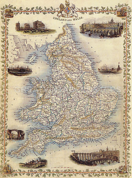 Map Of England 1800.Details About 1800 S Map England And Wales London Newcastle Oxford Repro Poster