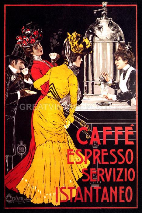 Repro Italian Antique Tarot Minchiate Cards 1 790: LADY CAFFE ESPRESSO COFFEE MACHINE INSTANT SERVICE ITALIAN