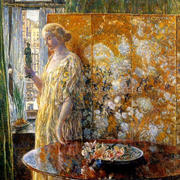 Amazing White Kitchen Design Ideas 1918 Freshoom Com: TANAGRA THE BUILDERS NEW YORK 1918 IMPRESSIONIST PAINTING BY CHILDE HASSAM REPRO