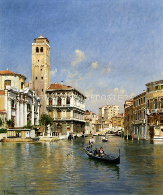VENICE CANAL GONDOLA BOAT DOGE/'S PALACE ITALY TRAVEL VINTAGE POSTER REPRO