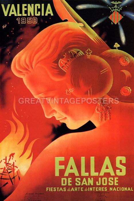 1950 valencia spain fallas san jose fiestas spanish travel - Vintage valencia ...