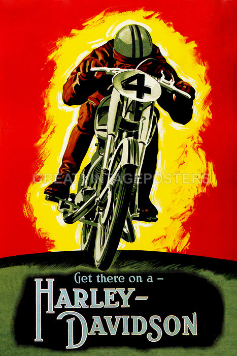 POSTER MOTORCYCLE RIDING NEEDLES HIGHWAY BLACK HILLS RIDE VINTAGE REPRO FREE S//H