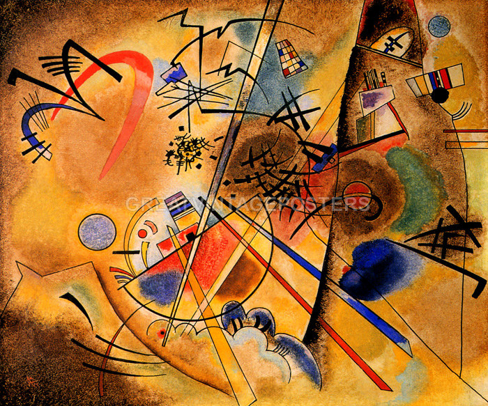 COMPOSITION VII INTENSITY AND POWER ABSTRACT PAINTING BY WASSILY KANDINSKY REPRO