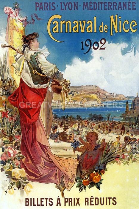 Theatre National De L/'opera Carnival Masks French Cappiello Vintage Poster Repro