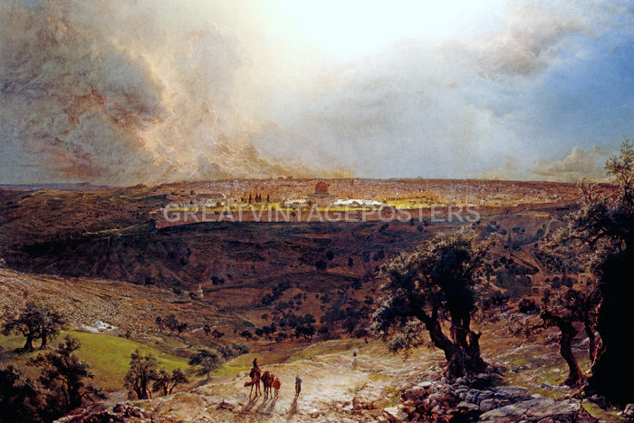 Frederic Church Jerusalem from the Mount of Olives Giclee Paper Print Poster